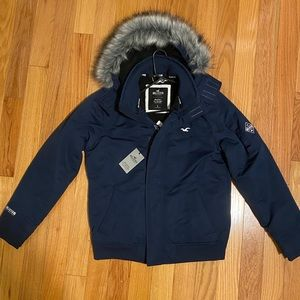Hollister Sherpa lined bomber jacket